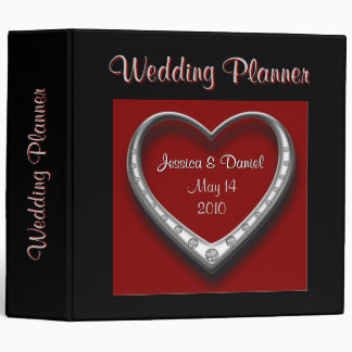Red & Black Heart Wedding Planner Binder