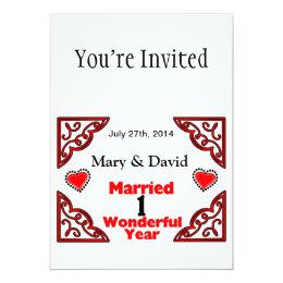 1 year anniversary invitations announcements zazzle