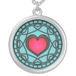 Red/Black Hearts & Swirls Necklace
