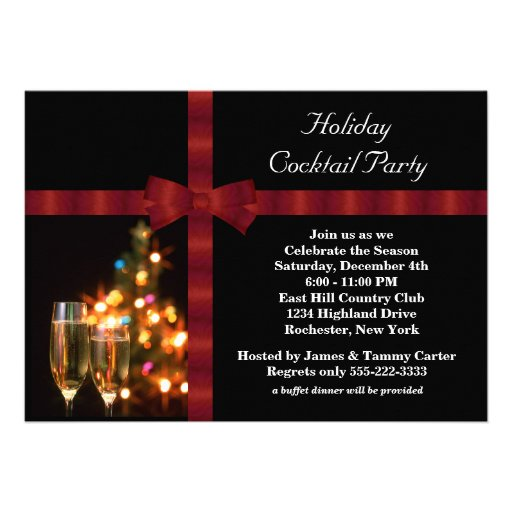 Cocktail Party Invitations with good invitations layout