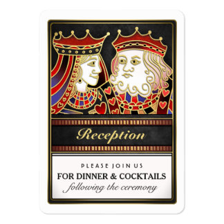 Red & Black King & Queen Matching Reception Cards