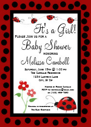 Ladybug baby shower invitations zazzle red black ladybug baby shower invitation template filmwisefo Image collections