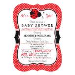 Red & Black Ladybug; Cute Baby Shower Card