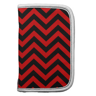 Red, Black Large Chevron ZigZag Pattern Planners