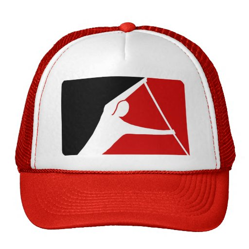 RED & BLACK LEAGUE OF PADDLERS TRUCKER HAT