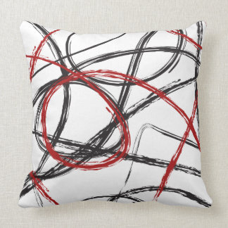 Red Black Gray PillowsDecorativeThrow PillowsZazzle