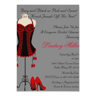 Red & Black Lingerie Bridal Shower Invite