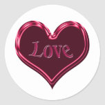 red black love heart stickers