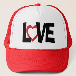 Red black love heart word wedding hat