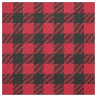 Red Black Lumberjack Buffalo Plaid Pattern Fabric