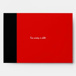 Red black mod trendy timeless classic envelope