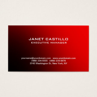 Red Black Modern Professional Personal Simple Business Card