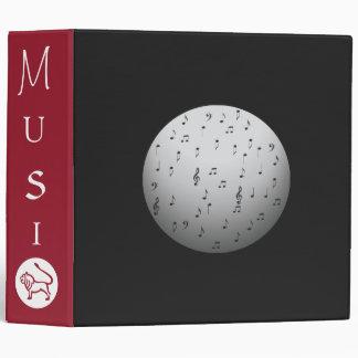 Red Black Music Note> Book Binder