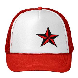 Red & Black Nautical Star Hat