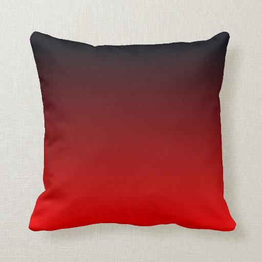 red black ombre throw pillow zazzle. Black Bedroom Furniture Sets. Home Design Ideas