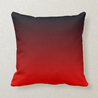 Red Black Ombre Throw Pillow