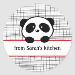 Red Black Panda From the Kitchen Baking Stickers