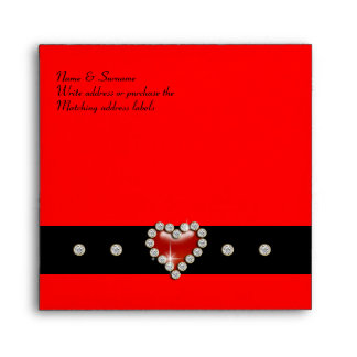 Red black party personalize envelope