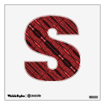 Red black pattern abstract wall decal