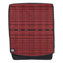 Red Black Pattern Design Backpack