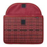 red black pattern MacBook pro sleeves