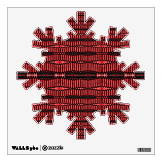 red black pattern wall decal