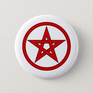 Red & Black Pentacle Button