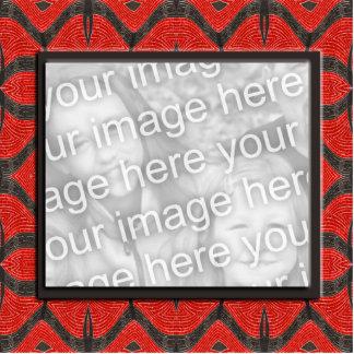 red black photoframe cutout