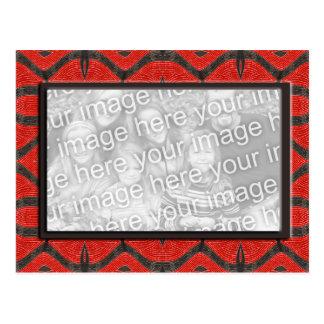 red black photoframe postcard