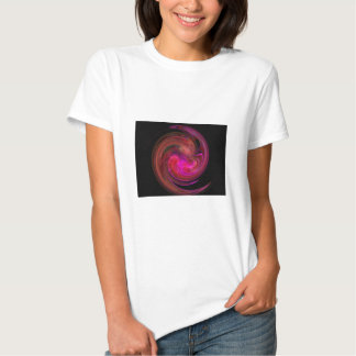 RED BLACK  PINK LIGHT VORTEX,Fractal Art Shirt