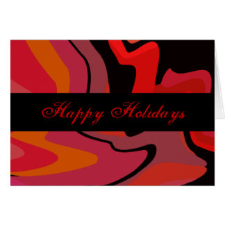 Red, Black, Pink Swirls Card