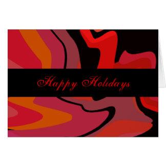 Red, Black, Pink Swirls Cards