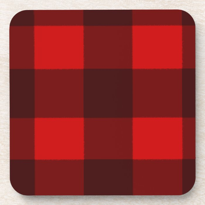 Red & Black Plaid Cork Coaster