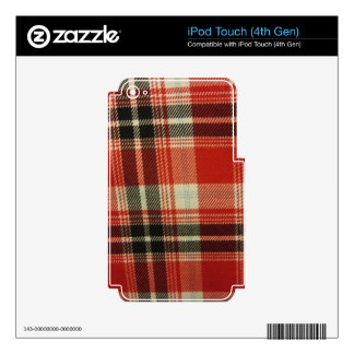 Red & Black Plaid iPod Touch 4G Decals