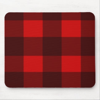 Red & Black Plaid Mousepad