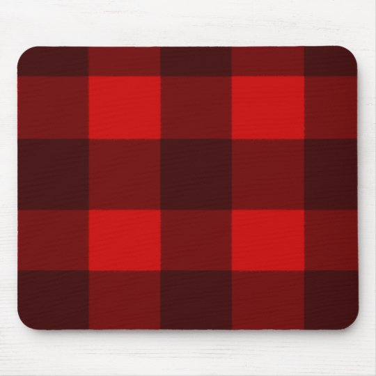 Red & Black Plaid Mousepad