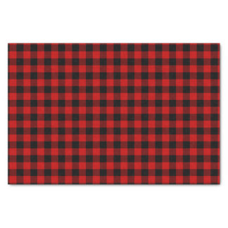 Red Black Plaid Pattern Tissue Paper