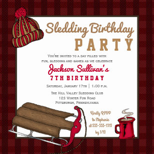 Sledding Invitations Zazzle