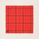 """Red & Black Plaid Square Coat Chiffon Scarf<br><div class=""""desc"""">Red & Black Plaid Square Coat Chiffon Scarf.  Matching tote at https://www.zazzle.com/z/lg2eh?rf=238126934954044669  Design by Claudine Boerner.</div>"""