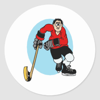 red black player classic round sticker