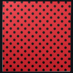"Red Black Polka Dot Spot Pattern Cloth Napkin<br><div class=""desc"">This is a classic black polka dot pattern, with cute small black spots on a brilliant red background. It has an elegant, chic, stylish appearance. The background colour can be changed on most products – to do this, click &#39;Customize it&#39; and choose Edit &gt; Background. You can also zoom in...</div>"
