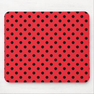 Red Black Polka Dot Spot Pattern Mouse Pads