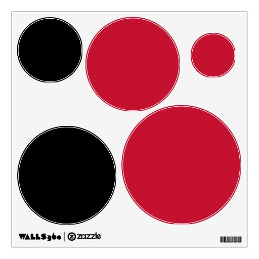 Red Black Polka Dot Wall Stickers Decals