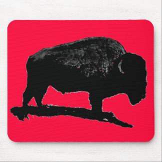 Red Black Pop Art Buffalo Mousepad