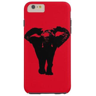 Red Black Pop Art Elephant iPhone 6 Plus Case