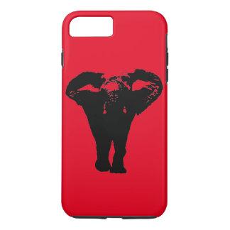 Red Black Pop Art Elephant iPhone 7 Plus Case