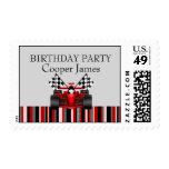 Red & Black Race Car Stamp
