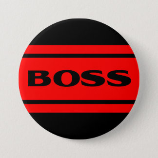 Red Black Race Stripe Muscle Car Boss Button