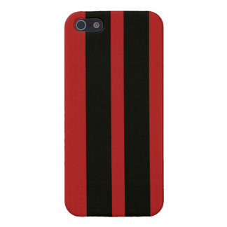 Red Black Racing Stripes Iphone 5 Case