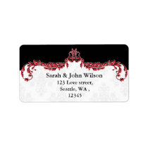 red black return address label